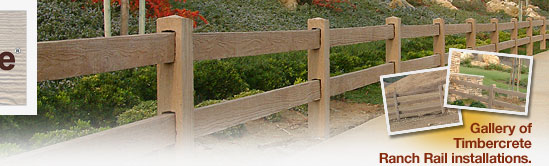 Timbercrete Fence Systems Ranch Rail Steel Reinforced